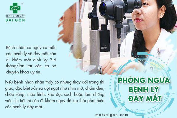 phòng ngừa bệnh lý đáy mắt