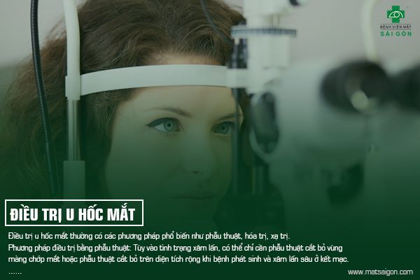 U hốc mắt điều trị